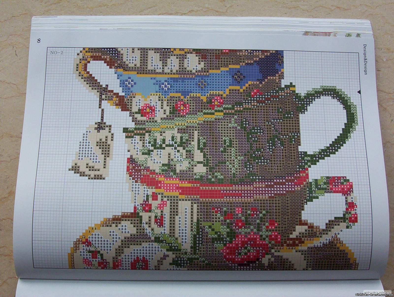 Схема вышивки чашка 45