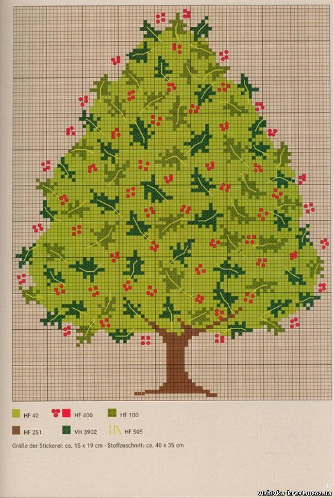 Вышивка дерева