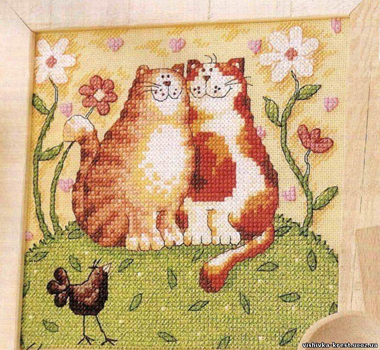 """Вышивка крестом """"Кошачьи"""